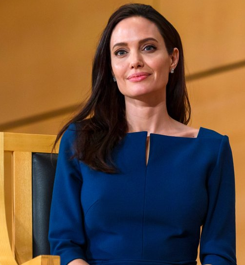 Angelina Jolie starts her First Day as a Professor